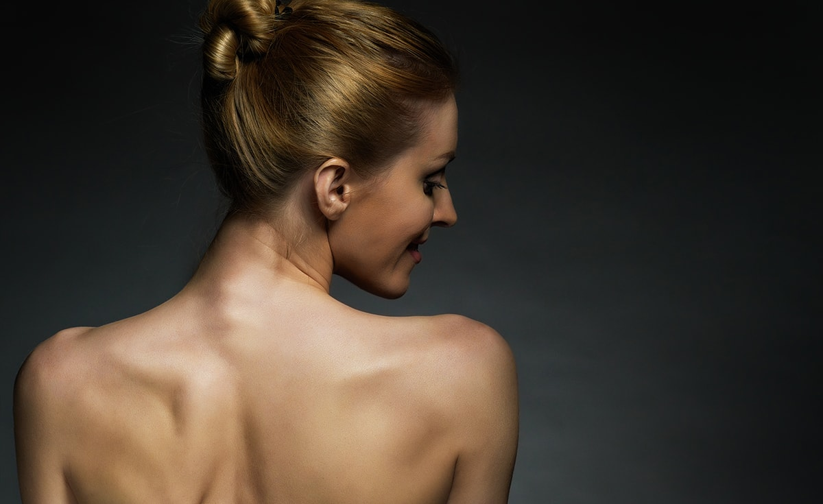 Woman's back and skin