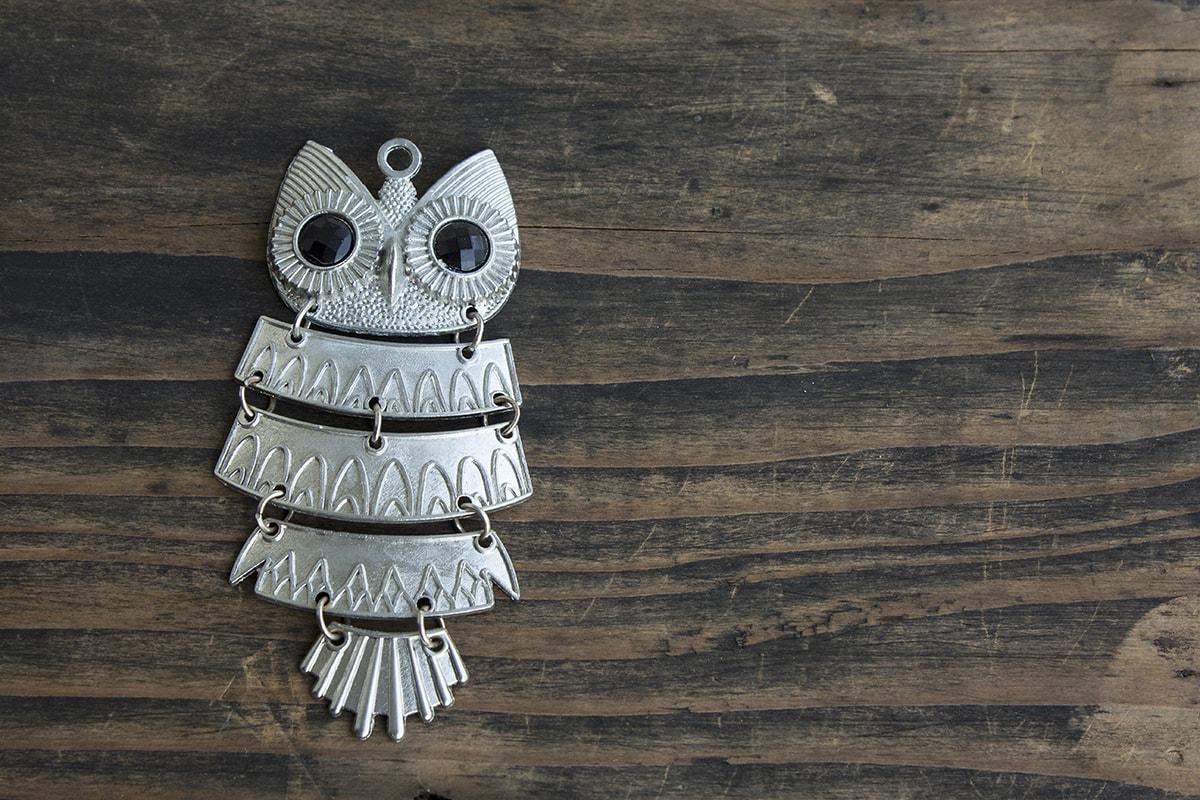 Silver owl jewelry