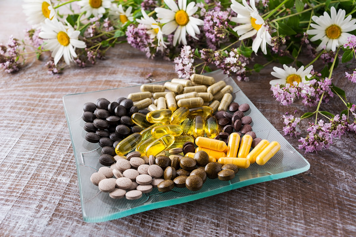 Health supplements and flowers