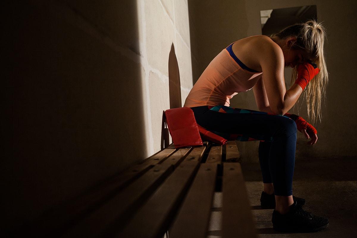 Sad young woman with trauma