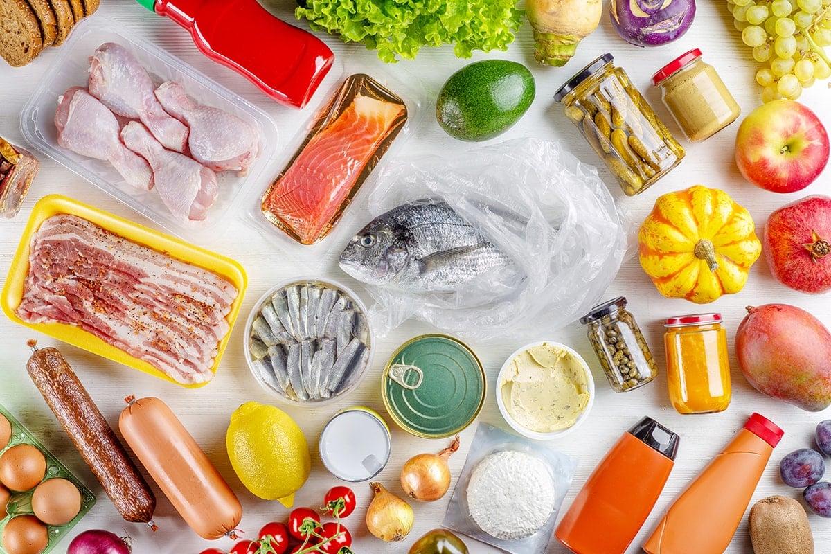 Different food ingredients
