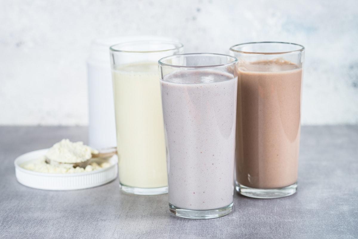Protein powder drinks