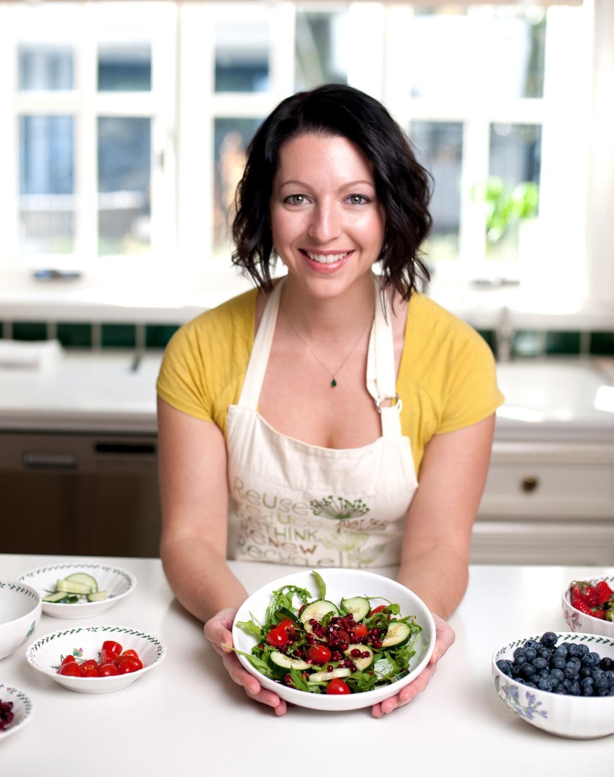 Jennifer Fugo with a salad