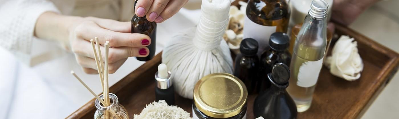 An assortment of skin oils including Castor Oil