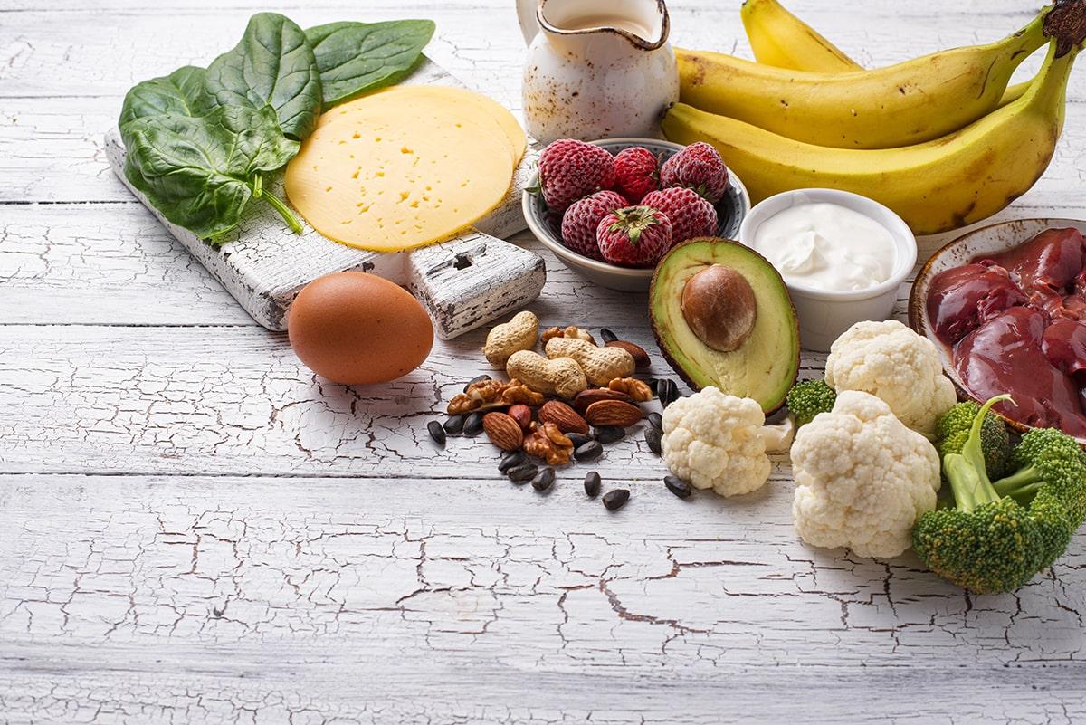 Natural food sources of B Vitamins