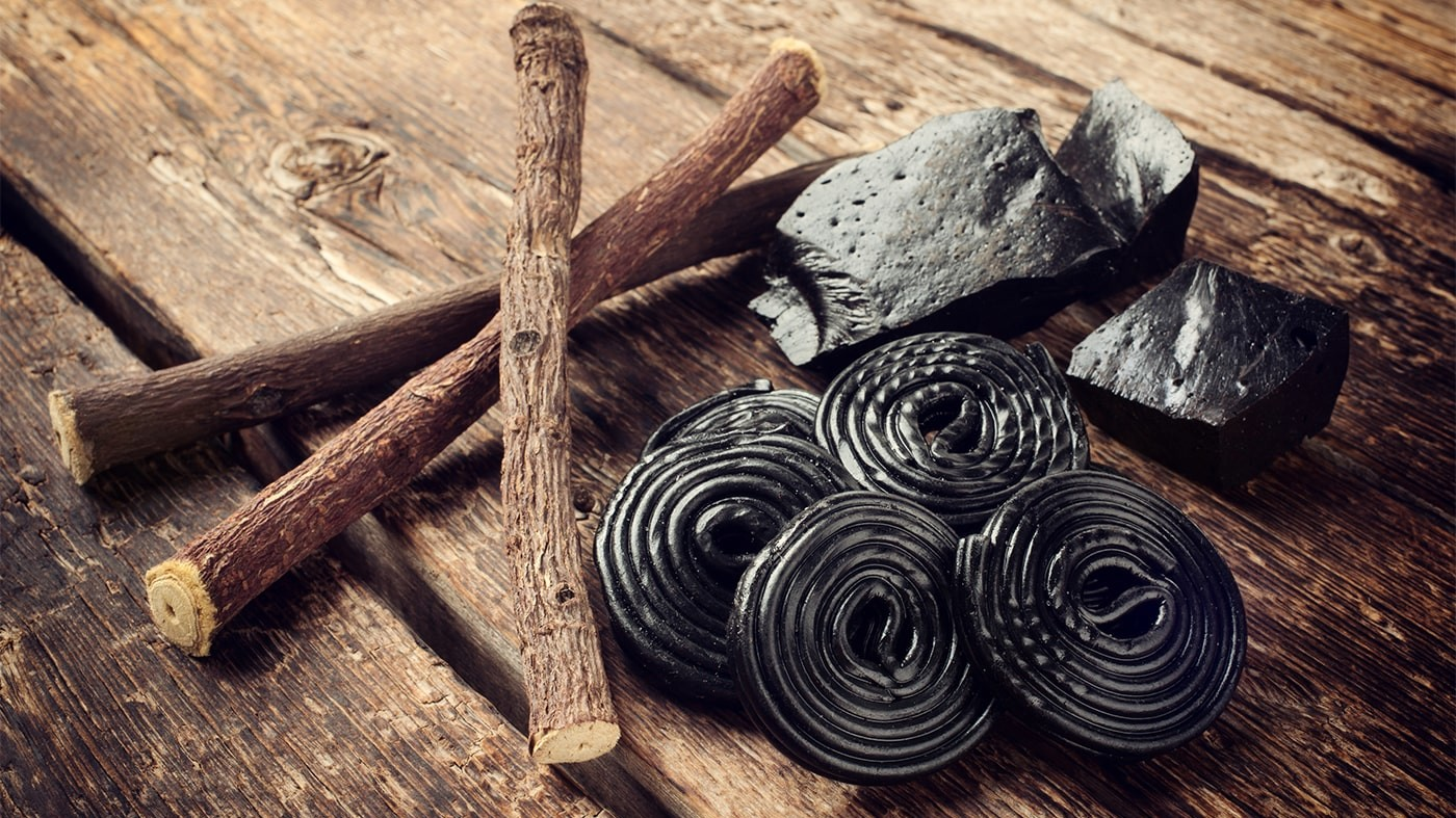 Licorice root and candy